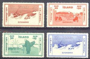 Iceland Sc# B1-B4 MNH 1933 Semi-Postals