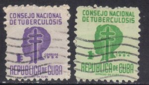 CUBA SC# RA23+25  **USED** 1954  1c     SEE SCAN
