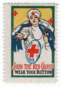 (I.B) US Cinderella : Red Cross Label (1919)