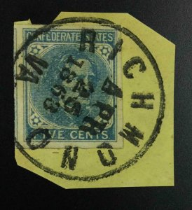 MOMEN: US STAMPS CSA #7 IMPERF USED LOT #53045