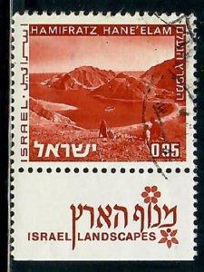 Israel #472 Landscape used single with tab