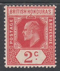 BRITISH HONDURAS 1908 KEVII 2C