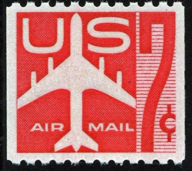 SC#C61 7¢ Jet (Red) Coil (1960) MNH