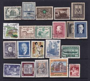 Austria a small lot of used commem types