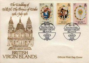 British Virgin Islands, First Day Cover, Royalty