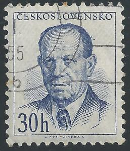 Czechoslovakia #617 30h Pres Antonin Zapotocky