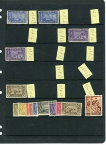 BAHAMAS; 1938-40s early GVI issues useful small Mint STOCK LOT