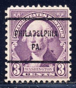 Philadelphia PA, 720-61 Bureau Precancel, 3¢ Stuart