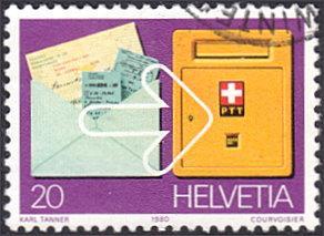 Switzerland # 687 used ~ 20¢ Postal Giro System