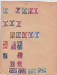 India Stamps on Album Page ref R 18963