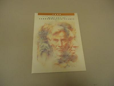 USPS 1986 Mint Set Of Commemorative Stamps Folio Lincoln