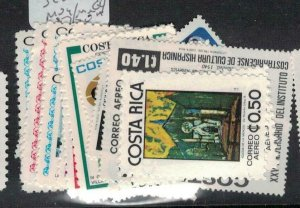 Costa Rica SC C688-704 MOG/MNH (6ecl)
