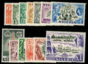 NIGERIA - SG69-80, COMPLETE SET, NH MINT. Cat £80.