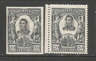 HAITI 87 MNH/MOG PERF AND IMPERF FORGERIES J711