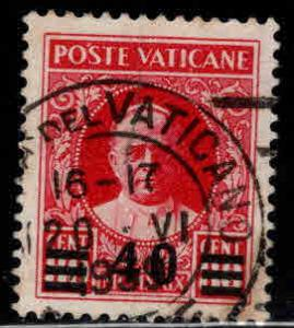 Vatican City Scott 35 Used surcharged 1929 Pope Piux XI  stamp CV$20