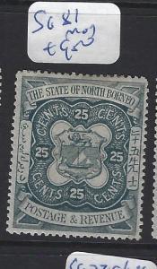NORTH BORNEO  (PP2807B)  25C  LION, ARMS    SG  81    MOG