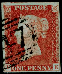 SG8, 1d red-brown, FINE USED.