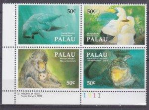 1993 Palau 606-609VB WWF / Sea fauna 8,00 €