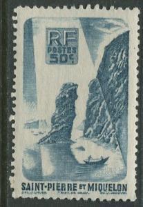 St Pierre et Miquelon.-Scott 327 -Soldiers Bay -1947 -MLH- Single 50c Stamp