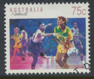 Australia SG 1188 Used Netball SC# 1121 w/first day issue cancel see scan
