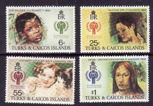 Turks & Caicos-Sc#386-9-unused NH set-IYC-Paintings1979-
