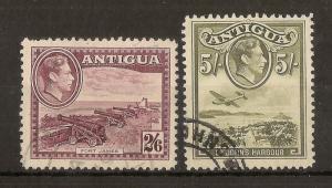 Antigua 1938-42 2/6d & 5/- SG106-107 Fine Used Cat£37