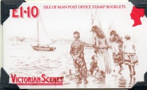 Isle of Man Sc 324a Victorian Scenes stamp booklet mint NH