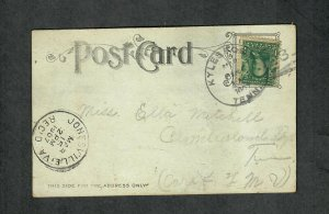 Tennessee Cancel Post Card Kyles Ford Doane Type 3 DPO 1907