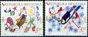 Croatia #552-553 Europa '04 MNH