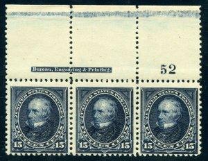 #274 Strip Of 3 Mint-F-VF-OG-NH (Optional: Add $14 for 1 Day Express) (1/5/21 GP