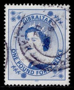 GIBRALTAR QEII SG869b, 1999 £1.40 bright blue, FINE USED.