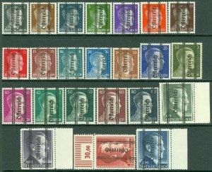 EDW1949SELL : AUSTRIA 1945 Sc #405-27 Top values signed Fresh & Mint NH Cat $780