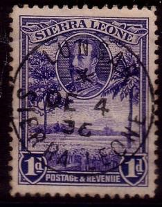 SIERRA LEONE 1936 LUNSAR cds on GV 1d......................................40271