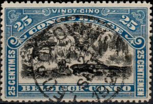 CONGO BELGE / BELGIAN CONGO - 1921 - LEOPOLDVILLE CAD ROND sur COB67 - TB