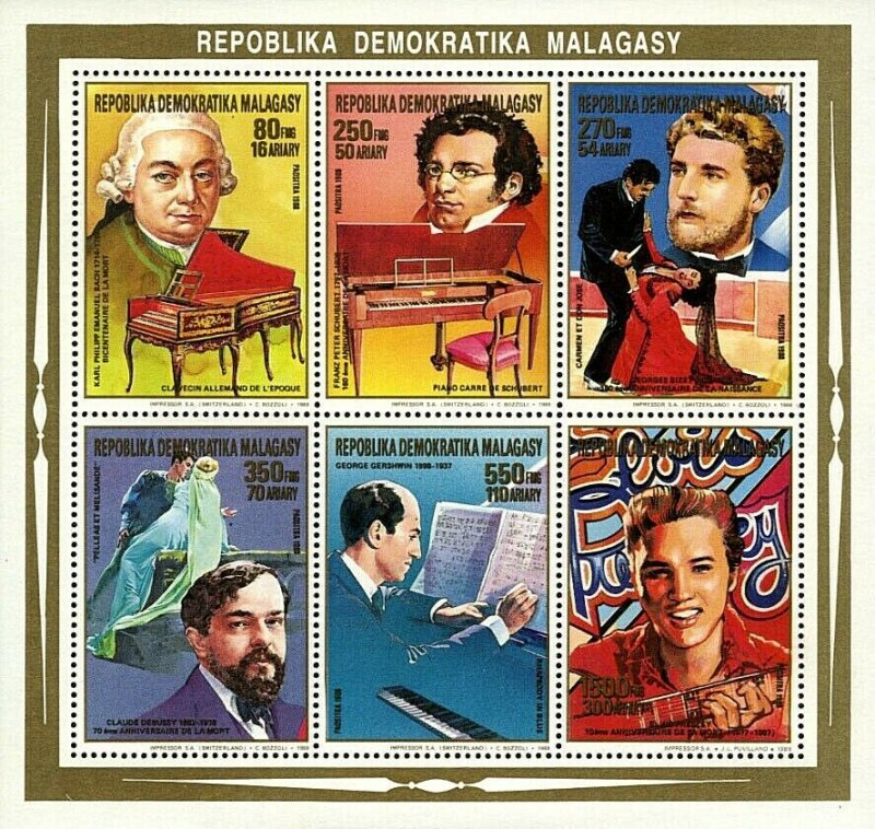 Stamps M/S Mint Musicians / Timbres Feuillet Musiciens