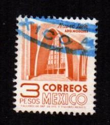 Mexico - #1097 Modernistic Church (Unwatermarked)  - Used