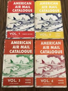 AMERICAN AIR MAIL CATALOGUE fourth edition four volumes