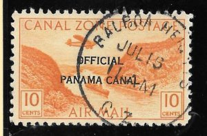 Canal Zone Scott #CO9  Postally Used 10 cents Official Air 2018 SCV = $260.00++