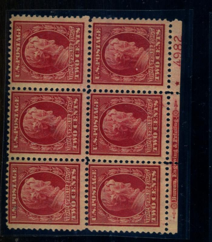 367 MINT Plate Block F-VF OG LH Cat$200