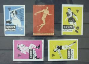 Match Box Labels ! sport olympic games athletics handball waterpolo GN15