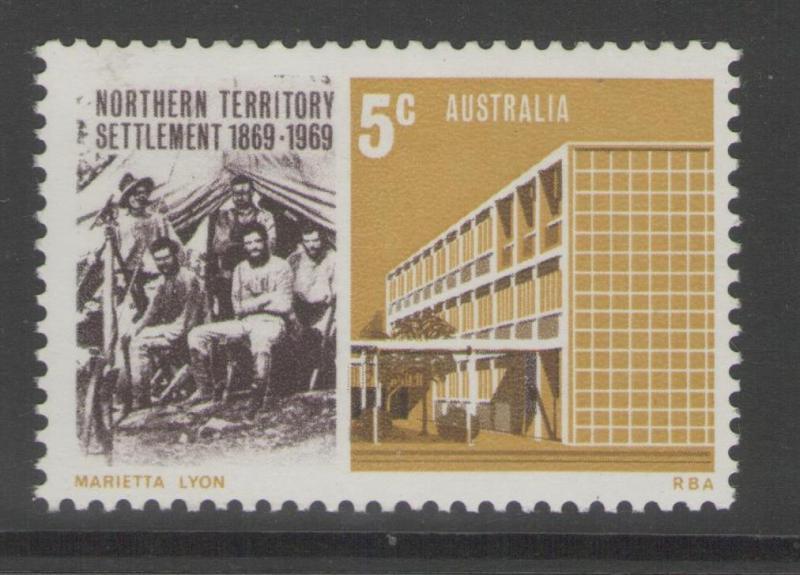 AUSTRALIA SG437 1969 NORTHERN TERRITORY SETTLEMENT MNH
