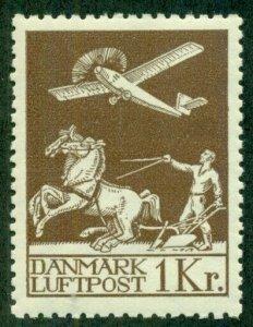 DENMARK #C5, Mint Never Hinged, Scott $270.00