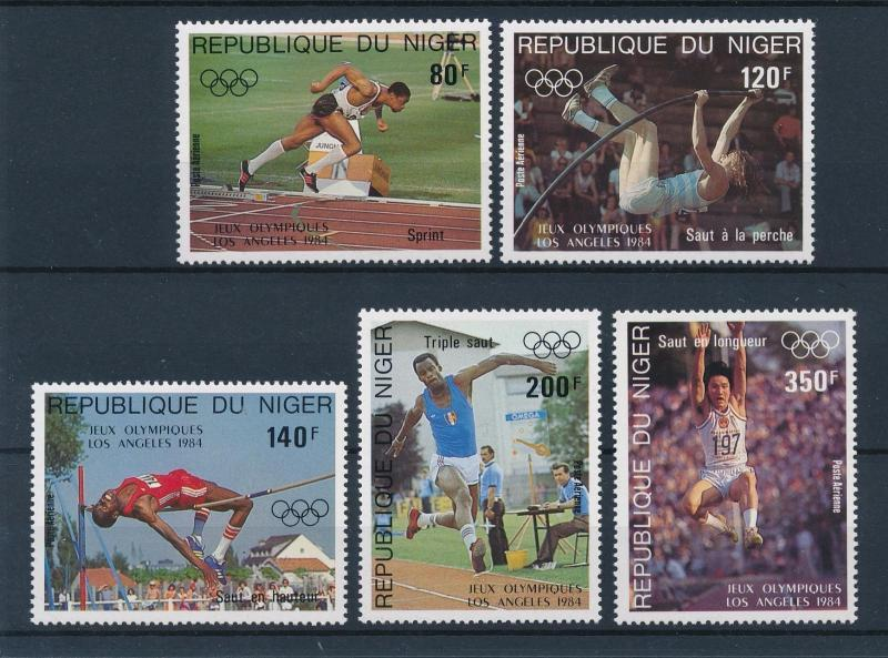 [46639] Niger 1984 Olympic games Los Angeles Athletics MNH