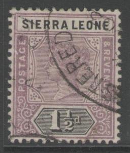 SIERRA LEONE SG43 1897 1½d DULL MAUVE & BLACK USED