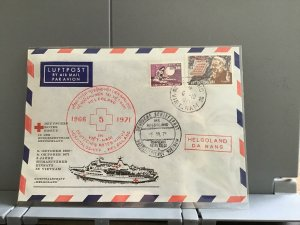 Vietnam  1971  Germán Red Cross  stamps cover R29234