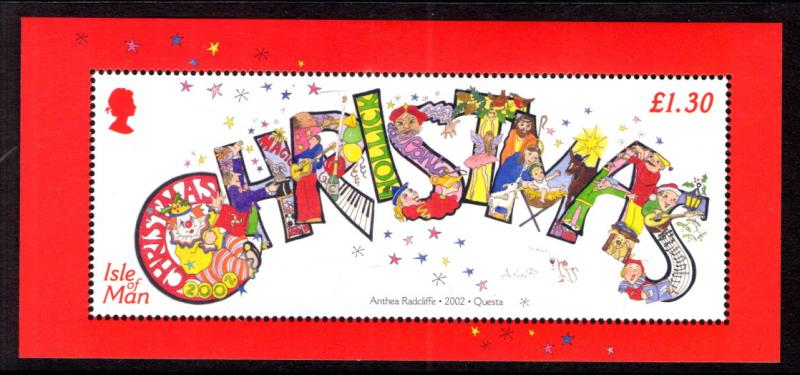 Isle of Man 975 Christmas Souvenir Sheet MNH VF