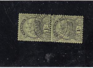 BERMUDA # 93 VF-SON HAMILTON PAIR 1sh CARAVEL'S CAT VALUE $125