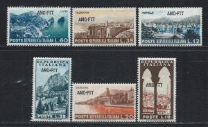 TRIESTE - ZONE A SC# 188-93 FVF/MNH 1954