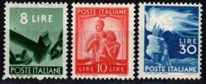 Italy #486-8  VF Unused CV $178.00 (X398)