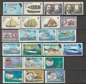 COLLECTION LOT # 4335 VIRGIN ISLANDS 22 MNH STAMPS 1968+ CV+$21